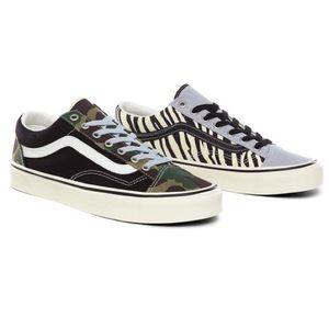 Vans Style 36 Mismatch Zebra Camo Sneakers
